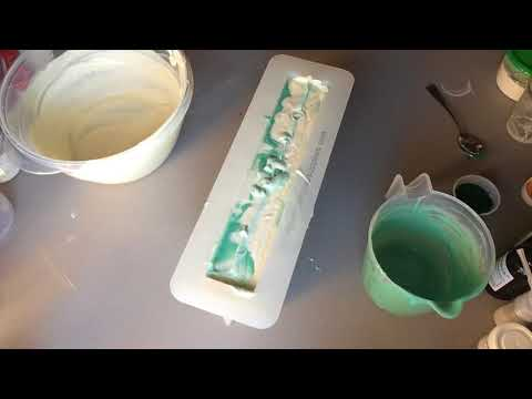 Making Tea Tree and Bergamot cold process soap