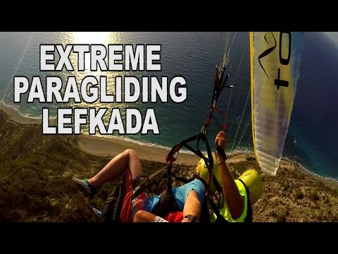 EXTREME PARAGLIDING - Lefkada Greece Travel Vlog day 5
