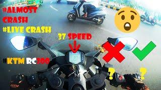 KTM RC200 Live Crash | Close Call | Idiots On Roads | KTM Breaks Save Me | Road Rage | Compilation l