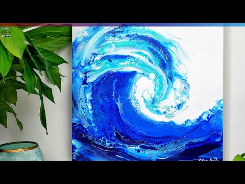 GORGEOUS Ocean Acrylic Pour Paintings🌊 TOP 5 Satisfying Fluid Art - Acrylic Pouring Compilation 2021
