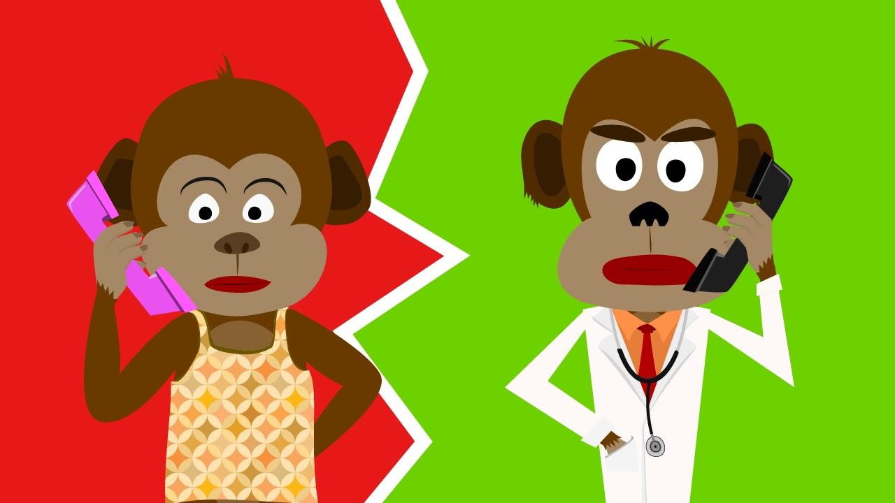 Five Little Monkeys | Jumping Monkeys