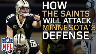 How the Saints Will Attack the Vikings Defense in the Divisional Round | Film Review | NFL Network