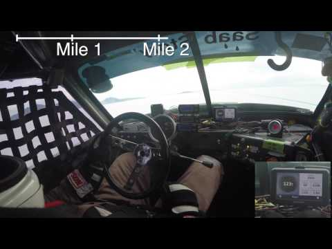 Drivers seat view @Bonneville Salt Flats Vintage Saab Sonett II Record Run Tom Donney