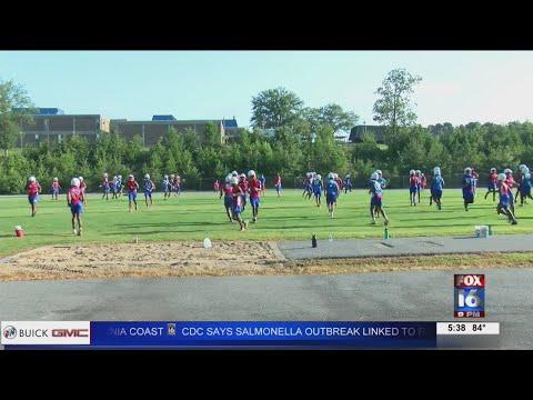 First Full Team Practice In Arkansas For Football