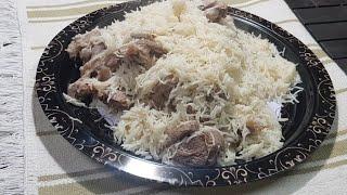 كبسة لحم في قدر الضغط الأفغاني Kabsa Meat with rice