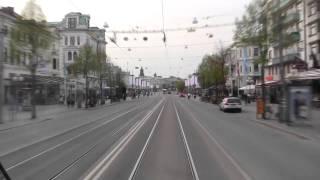 Spårvagn Linje 3 ( Tram line 3 in Gothenburg), hela turen på 10 minuter