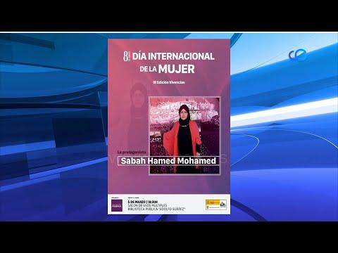 Podemos concede el premio 'Vivencias' por el 8M a Sabah Hamed Mohamed.
