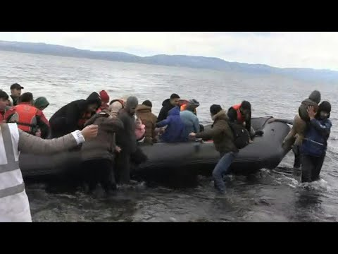 Migrants arrive on Lesbos Island from Turkey | AFP