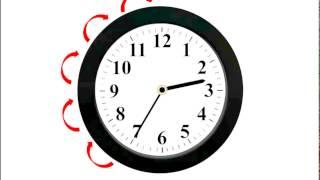 Изучаем время по часам со стрелками. Часы. Часть 3.