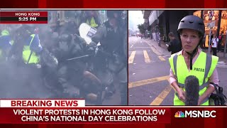 Violent protest in HK follow China's anniversary celebrations