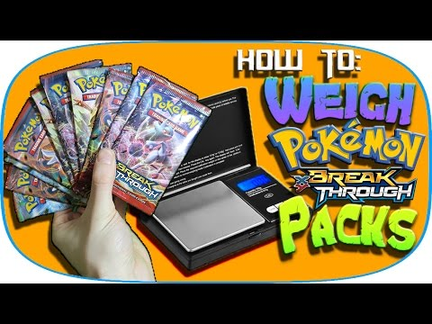 How to weigh Pokemon BreakThrough packs!! | Booster pack opening | Rare Full Arts!