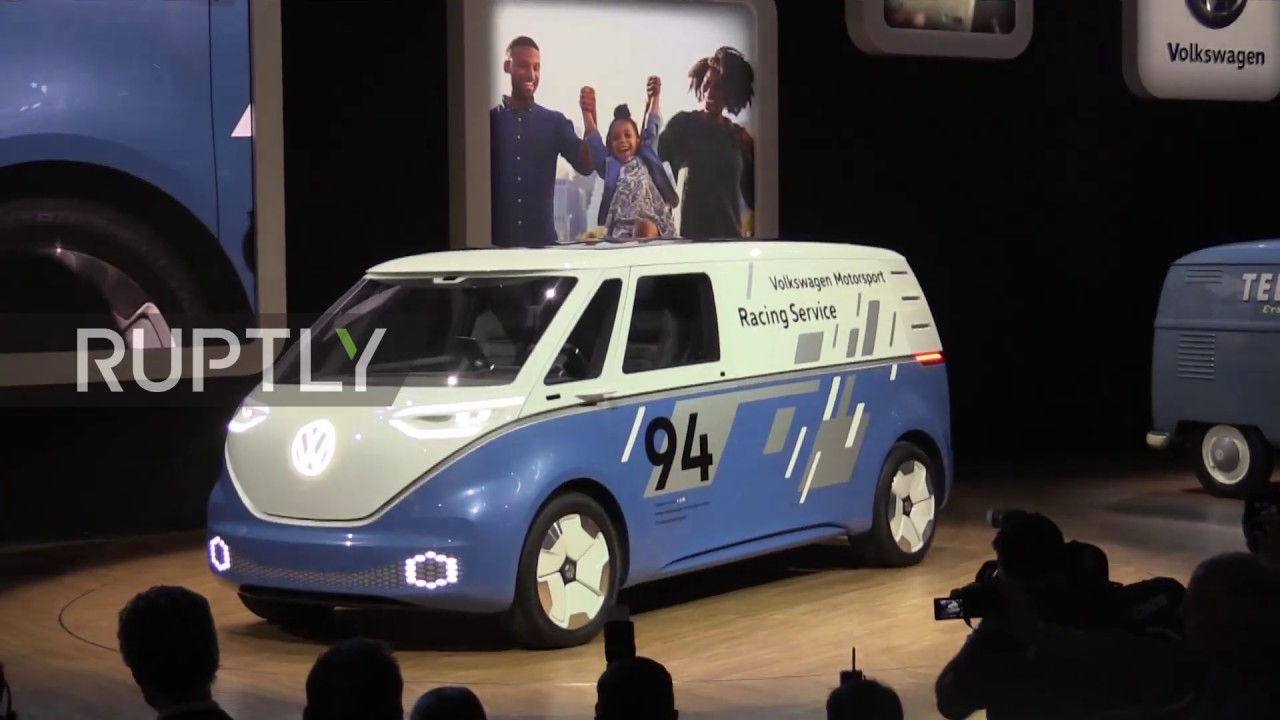 Usa Volkswagen Unveils Buzz Cargo Electric Delivery Vehicle