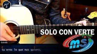 Como tocar Solo Con Verte de BANDA MS en Guitarra Acústica | Acordes Tutorial Christianvib