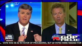 "Rand Paul on Fox ""Hannity"" discusses Donald Trump 9/10/15"