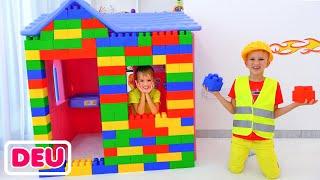 Vlad und Niki Fahren auf Spielzeugflugzeug & spielen mit Spielzeug