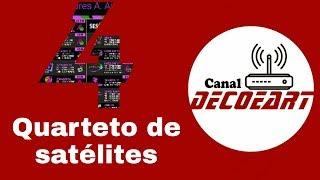 Quarteto de satélites 70W / 61W / 43W / 40.5w