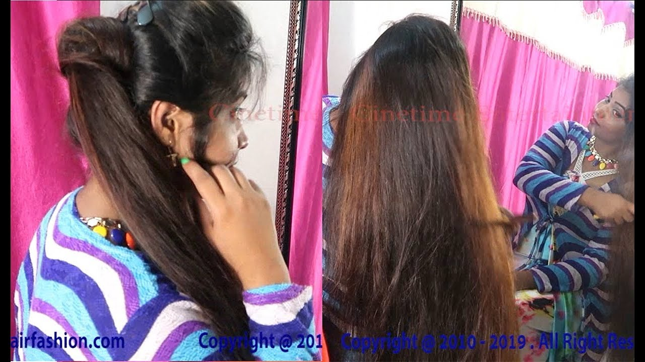 Ponytail Hairstyle   Front Puff Side Ponytail Hairstyle for Party/Wedding/Festivals - YouTube