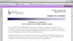 How to Fill in a New York Power of Attorney Form