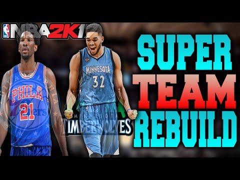 THE 2 NEXT NBA SUPER TEAMS!! 2 TEAM REBUILDING CHALLENGE! NBA 2K17