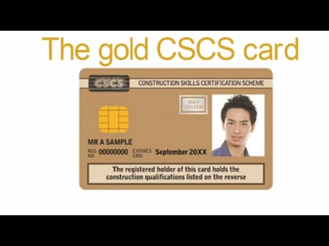 Cscs Gold Card >> The Gold Cscs Card Youtube