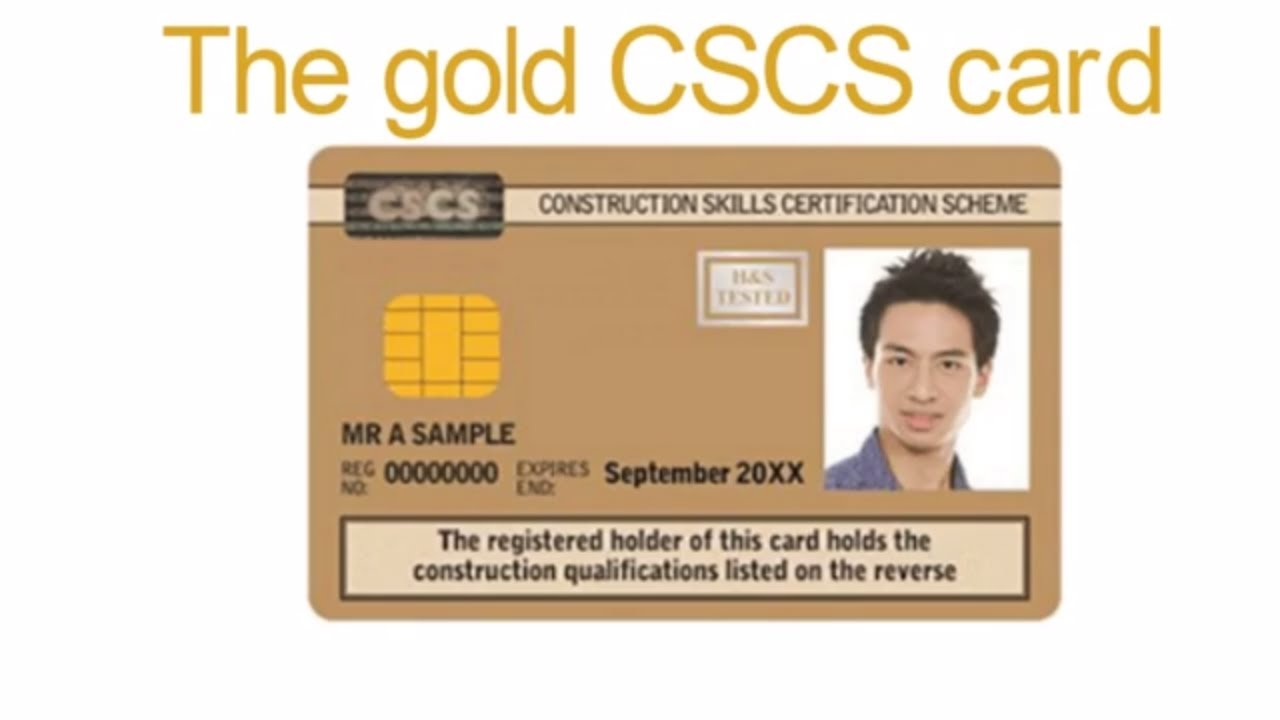 what does a gold cscs card mean