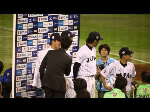 2014 侍ジャパン 則本 西 牧田 西野 ノーヒットノーラン継投 ヒーローインタビュー 日米野球
