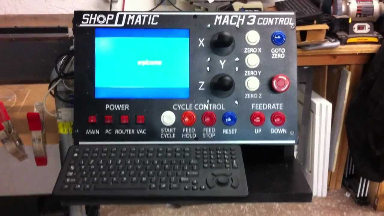 Diy Dedicated Mach3 Cnc Control Panel Youtube