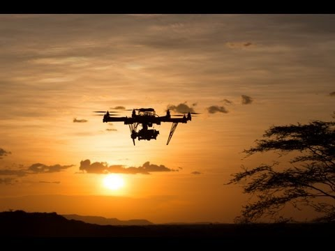 Autodesk Octo-Copters supporting Louise Leakey in Kenya