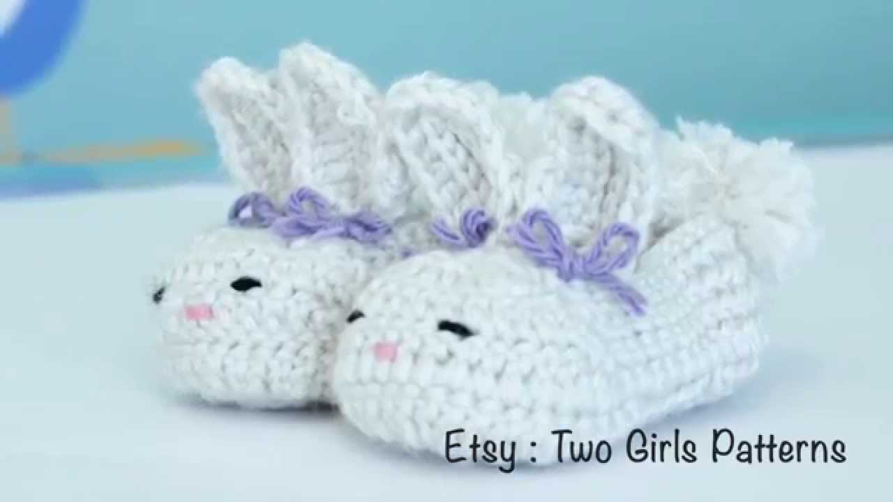 Crochet baby bunny house slippers crochet tips youtube bankloansurffo Choice Image