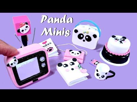 DIY Miniature Panda Crafts - Lunchpail, Purse, TV, Cake, Etc