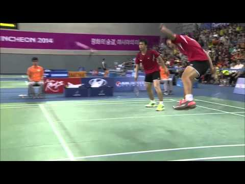 Between Legs S by Muhammad Ahsan - 2014 Asian Games Badminton MD ...