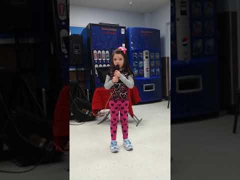 Kylie singing Frozen karaoke