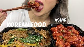 ASMR *NO TALKING | KOREAN FOOD (Noodles & Pork Chop) | N.E Lets Eat