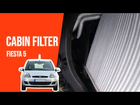 How to replace the cabin filter FIESTA 5 👃