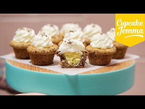 Get How to Make Chocolate Chip Cookie Cup Cupcakes | Cupcake Jemma Images