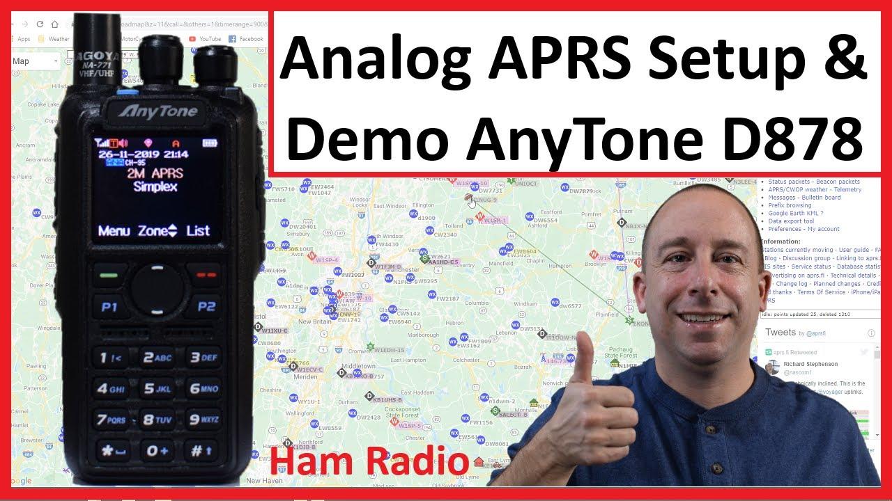 Download Analog APRS Setup and Demo on the Anytone AT-D878UV Ham Radio