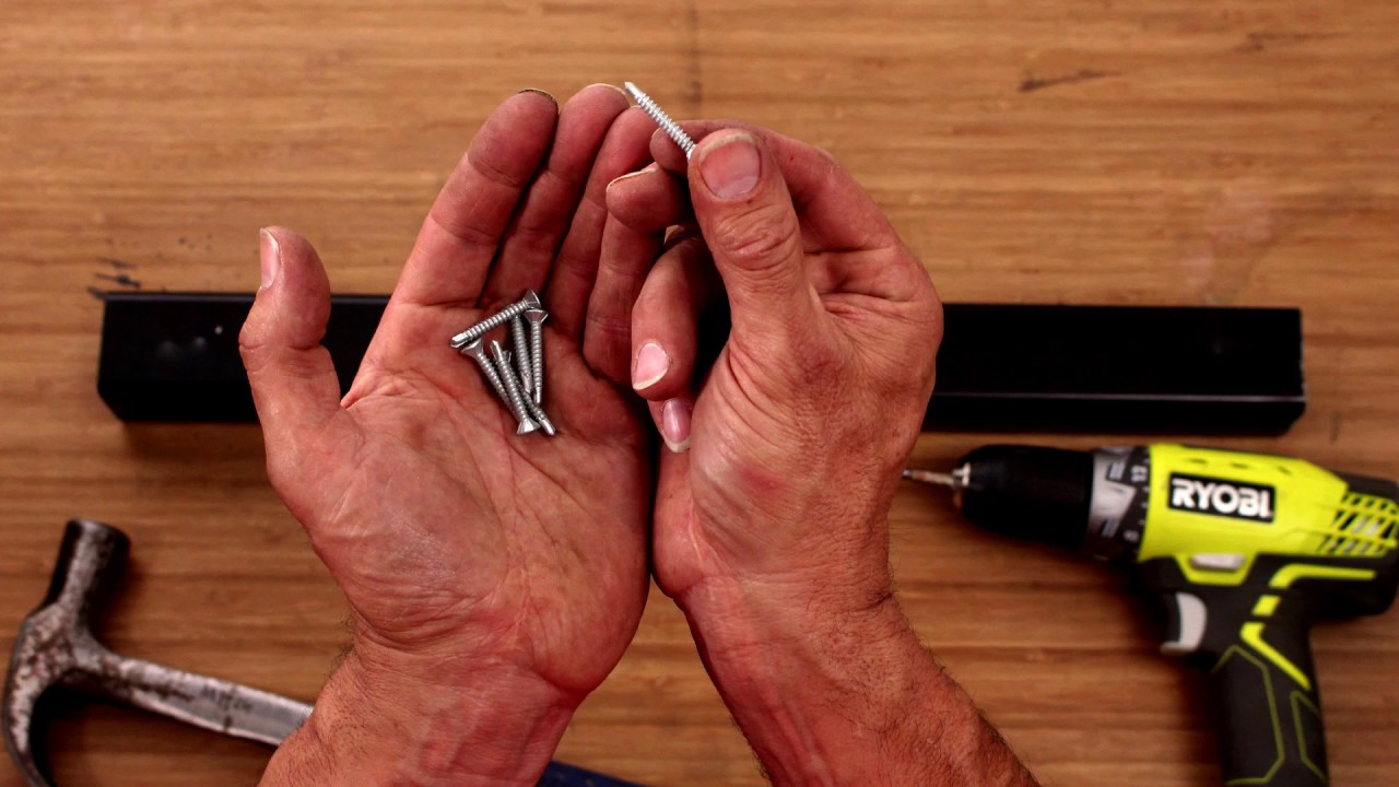 How To Screw Into Metal - Drilling Tips - D I Y  At Bunnings - YouTube