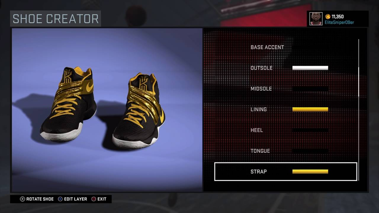 0021d8876922 Shoe Creator NBA 2k16 Kyrie 2 (Drew League) - YouTube