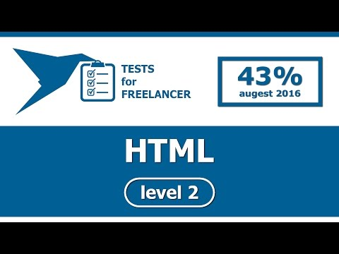 Freelancer - HTML - level 2 - test (43%)