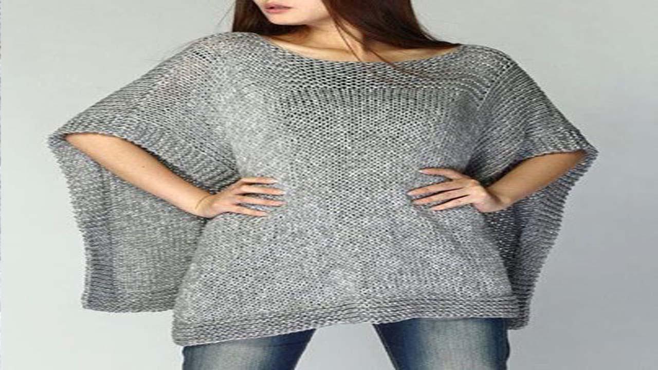 Poncho para mujer tejidos a crochet - YouTube