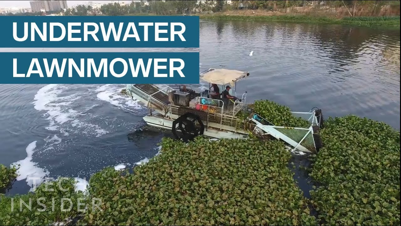These Underwater Lawnmowers Are Cleaning Trash Out Of Rivers