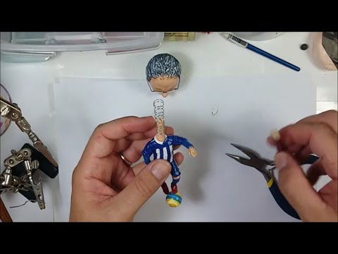 MAKING SPRING WIRE - How to make a bobblehead / Cum sa faci un arc la un  Bobblehead - YouTube