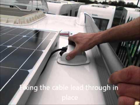 Fitting A Truma Solar Panel On A Caravan Youtube