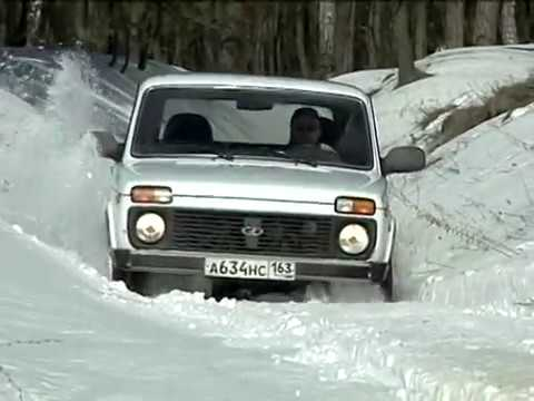 Зимний тест-драйв Нива LADA 4x4 M (NIVA Vaz-21214), winter test-drive.
