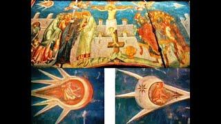 Космонавты с Дечанских фресок. Космические корабли на фресках «Распятие» и «Воскресение» Христа.