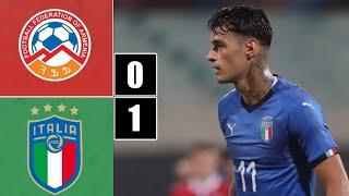 ARMENIA-ITALIA U21 0-1 SCAMACCA DI TESTA