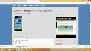 how to flash qmobile i5 with sp flash tool