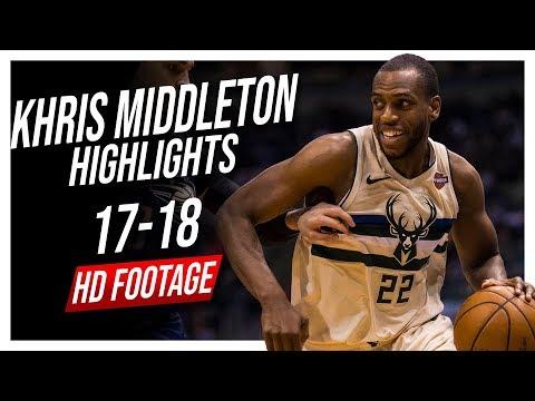Bucks SF Khris Middleton 2017-2018 Season Highlights ᴴᴰ
