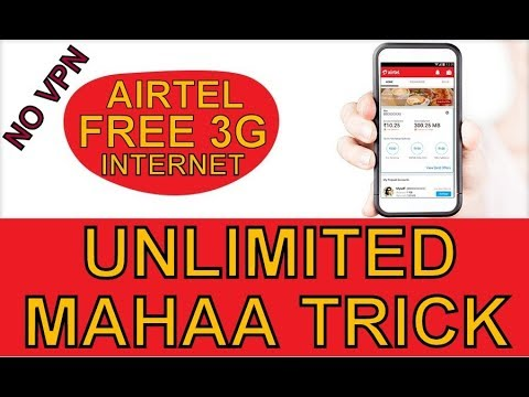 AIRTEL 3G FREE UNLIMITED TRICK