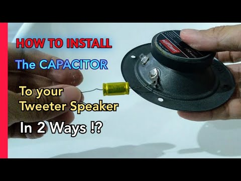 How to install capacitor to your Tweeter speaker   In two ways and proper  way - YouTube   Speaker Capacitor Wiring      YouTube